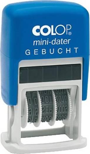 Colop MiniDater S 160/L3/S160/L3 5 x 25 mm, 4 mm Kissen rot/blau Gebucht