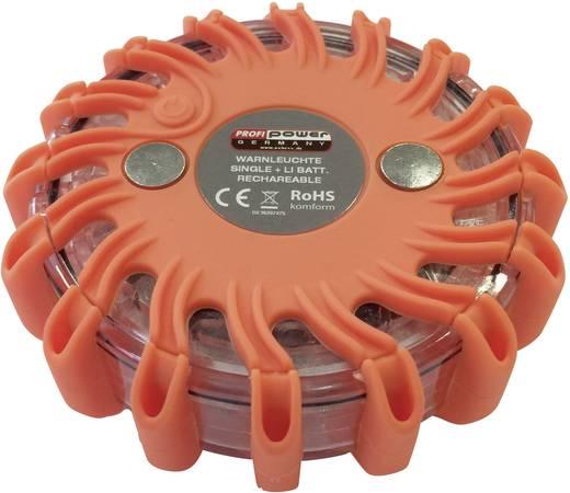 Warnblinkleuchte 16 LEDs 2420003 Einzel 12 V, 24 V, 230 V akkubetrieben Magnet-Befestigung Orange Profi Power