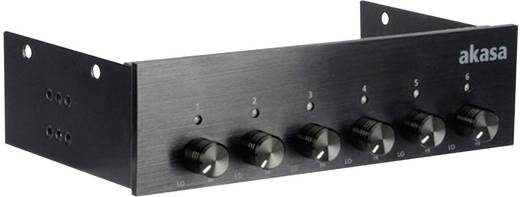 PC Lüftersteuerung 13,32 cm (5.25 Zoll) Anzahl Kanäle: 6 Akasa AK-FC-08BKV2 inkl. LED-Beleuchtung