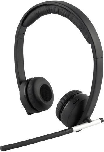 PC-Headset DECT schnurlos, Stereo Logitech H820E On Ear Schwarz