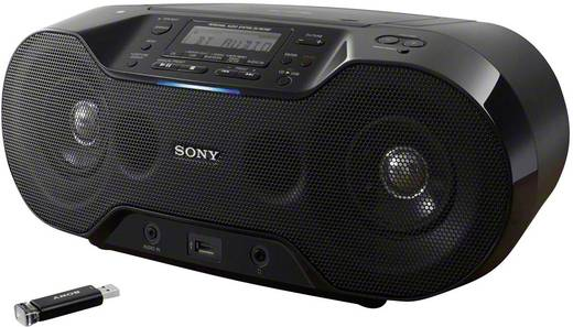 Sony ZS-RS70BTB DAB+ CD-Radio AUX, Bluetooth®, CD, DAB+, NFC, UKW, USB Schwarz