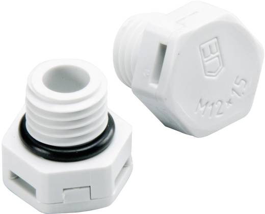 Druckausgleichselement M12 Polyamid Licht-Grau (RAL 7035) Fibox MB 10894 1 St.