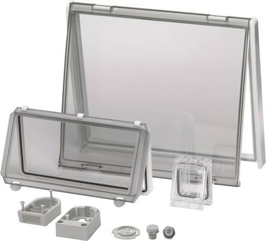 Gehäusedeckel Deckel Transparent, mit Scharnier (L x B) 60 mm x 77 mm Polycarbonat Klar Fibox PC L 02 1 St.
