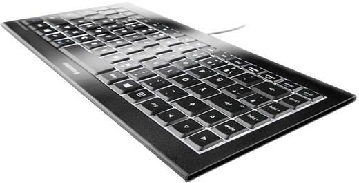 USB-Tastatur CHERRY KC 4020 Schwarz Beleuchtet