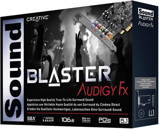 5.1 Soundkarte, Intern Sound Blaster SoundBlaster Audigy FX PCIe x1 externe Kopfhöreranschlüsse