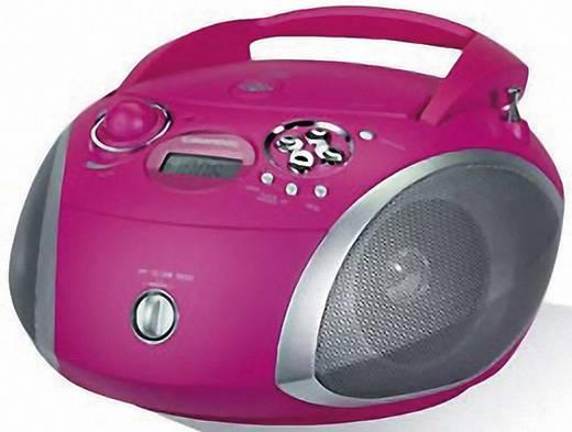 Grundig RCD 1445 USB, CD-Radio, UKW, Pink, Silber