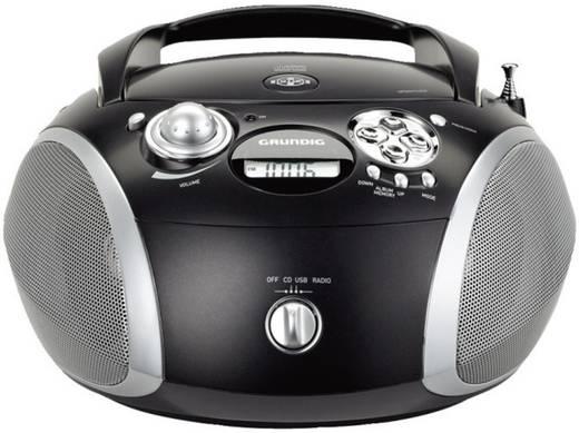 UKW CD-Radio Grundig RCD1445USB Schwarz, Silber