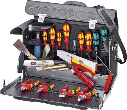 Elektriker Werkzeugkoffer bestückt 24teilig Knipex TOP-MONTAGEKOFFER E-HANDWERK 002101 TL (L x B x H) 160 x 420 x 250 mm