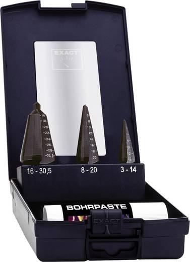 Schälbohrer-Set 3teilig 3 - 14 mm, 4 - 20 mm, 16 - 30.5 mm HSS Exact 1605209 TiAIN 3-Flächenschaft 1 Set