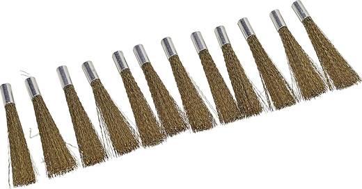 Ersatzpinsel für Glasfaser-Radierer 12er-Pack (Messingdraht) Durchmesser 4 mm