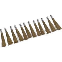 Náhradní mosazné kartáčky pro brusnou tužku, Ø 4 mm, 12 ks