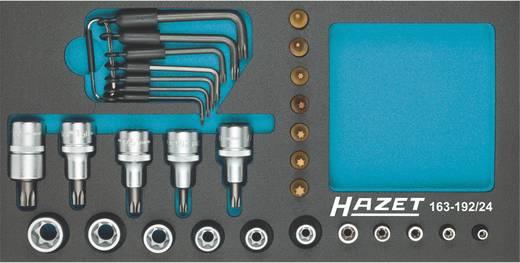 """Außen-TORX, Innen-TORX Steckschlüsseleinsatz-Set 24teilig 1/4"""" (6.3 mm), 1/2"""" (12.5 mm) Hazet 163-192/24"""