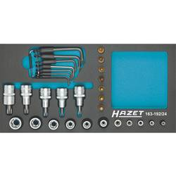 """Sada nástavcov pre nástrčný kľúč, vonkajší TORX, Torx Hazet 163-192/24, 1/4"""" (6,3 mm), 1/2"""" (12.5 mm), chrom-vanadová ocel, 24-dielna"""