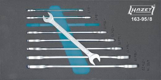 Doppel-Maulschlüssel-Satz 8teilig 6 - 22 mm DIN 3110, ISO 10102 Hazet 163-95/8