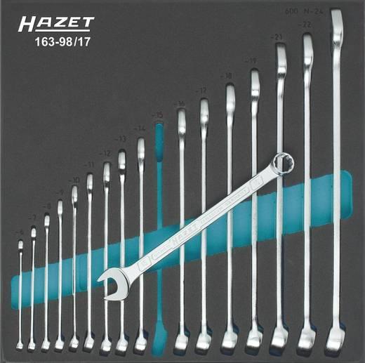 Ring-Maulschlüssel-Satz 17teilig 6 - 24 mm DIN 3113 Form A, ISO 3318, ISO 7738 Hazet 163-98/17