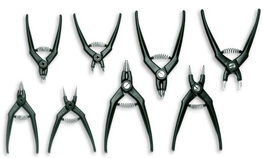 Seegeringzangen-Set Passend für Außen- und Innenringe 19-60 mm, 8-11 mm 19-60 mm, 10-25 mm Spitzenform abgewinkelt 90°,
