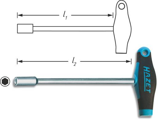 Werkstatt Steckschlüssel-Schraubendreher Hazet Schlüsselweite (Metrisch): 10 mm