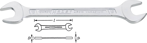 Chrom Vanadium Doppelmaulschlüssel 10 x 13mm Schraubenschlüssel DIN 3110