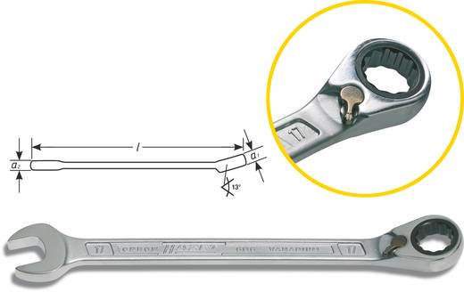 Knarren-Ring-Maulschlüssel 13 mm Hazet 606-13