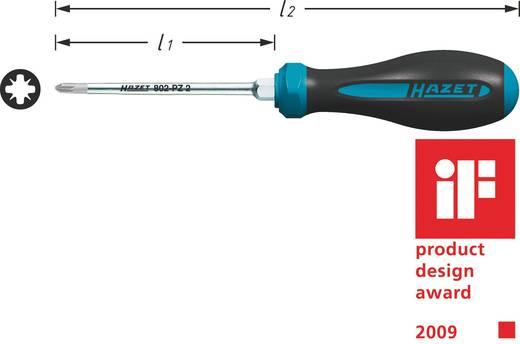 Werkstatt Kreuzschlitz-Schraubendreher Hazet PZ 2 Klingenlänge: 100 mm DIN ISO 8764-1, DIN ISO 8764-2