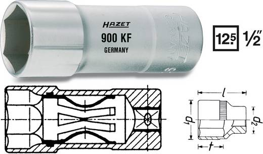 "Außen-Sechskant Zündkerzeneinsatz 20.8 mm 13/16"" 1/2"" (12.5 mm) Produktabmessung, Länge 71 mm Hazet 900KF"