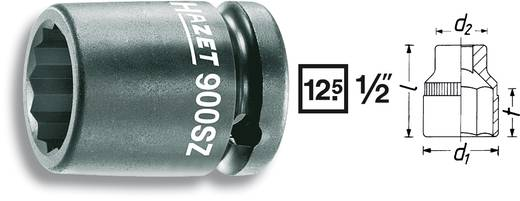 "Außen-Sechskant Kraft-Steckschlüsseleinsatz 36 mm 1/2"" (12.5 mm) Produktabmessung, Länge 60 mm Hazet 900SZ-36"
