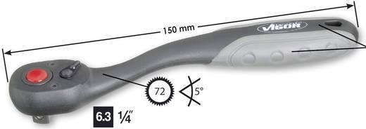"""Umschaltknarre 1/4"""" (6.3 mm) 150 mm Vigor V1038"""
