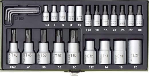"""Innen-TORX, TORX BO, Außen-TORX Steckschlüssel-Bit-Einsatz-Set 24teilig 1/4"""" (6.3 mm), 1/2"""" (12.5 mm) Proxxon Industrial 23 102"""