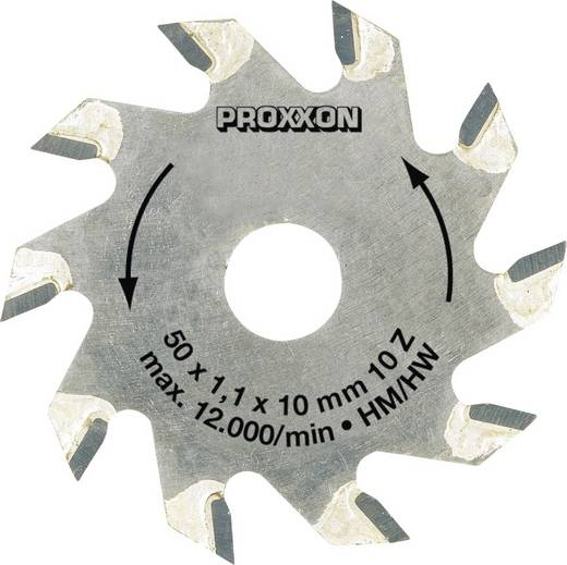 Hartmetall Kreissägeblatt 50 x 10 x 1.1 mm Zähneanzahl: 10 Proxxon Micromot 28 016 1 St.