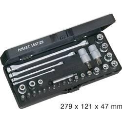 """Sada nástavcov pre nástrčný kľúč, vonkajší TORX, TORX BO, Torx Hazet 1557/29, 1/4"""" (6,3 mm), 3/8"""" (10 mm), 1/2"""" (12.5 mm), 29-dielna"""