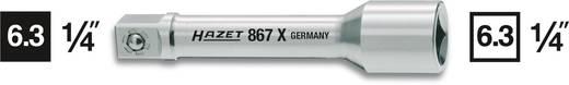 """Steckschlüssel-Verlängerung Antrieb (Schraubendreher) 1/4"""" (6.3 mm) Abtrieb 1/4"""" (6.3 mm) 55 mm Hazet 867X-2"""