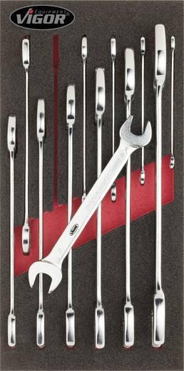 Doppel-Maulschlüssel-Satz 12teilig 6 - 32 mm DIN 3113 Vigor V1683