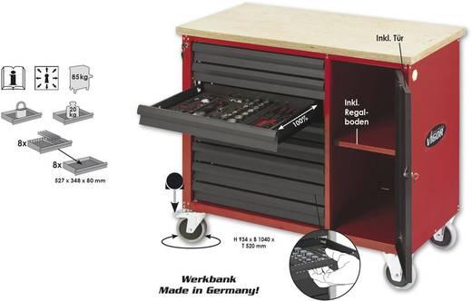 Vigor V1705 Werkbank, fahrbar-mit-8-Schubladen Abmessungen:(L x B x H) 1040 x 520 x 934 mm
