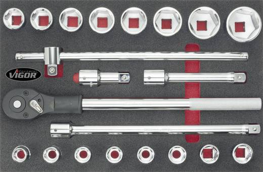 "Steckschlüsselsatz metrisch 3/4"" (20 mm) 21teilig Vigor V2364"