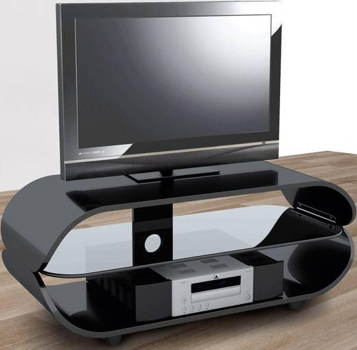 schnepel fl linie 120 p tv rack hochglanz schwarz kaufen conrad. Black Bedroom Furniture Sets. Home Design Ideas