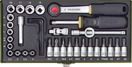 """Steckschlüsselsatz metrisch 1/4"""" (6.3 mm) 36teilig Proxxon Industrial 23080"""