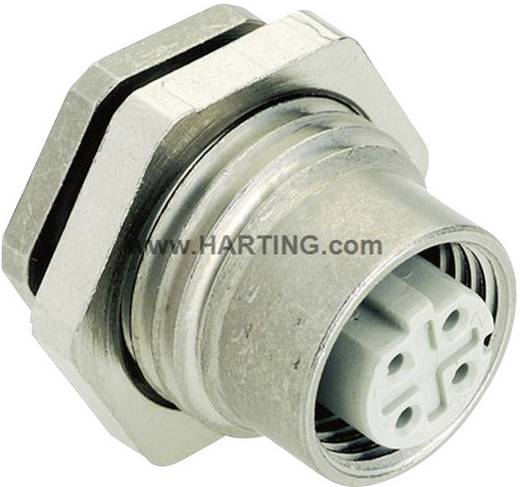 M12 Leiterplattenadapter Pole: 4 Han® M12 Harting Inhalt: 1 St.
