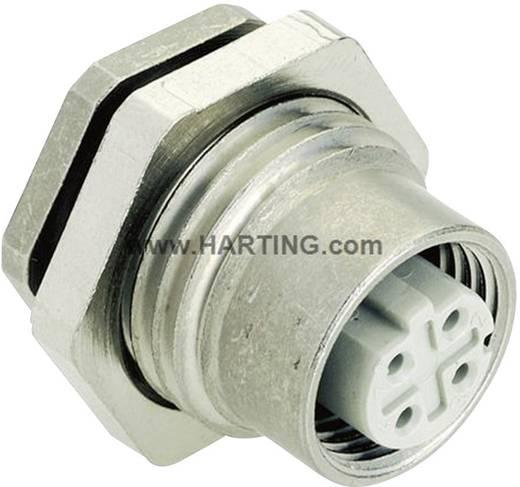 Sensor-/Aktor-Einbausteckverbinder M12 Printbuchse, Einbau Polzahl (RJ): 4 Harting 21 03 381 6410 Han® M12 1 St.