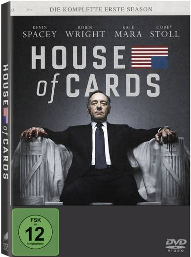 DVD House of Cards - Die komplette erste Season (4 DVDs) FSK: 12