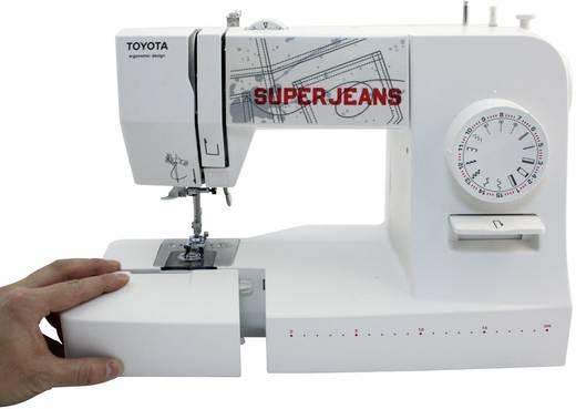 Toyota Nähmaschinen Jeans-Freiarmnähmaschine SUPERJ15WE Lederfunktion Weiß