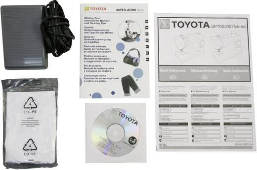 Jeans-Freiarmnähmaschine Toyota Nähmaschinen SUPERJ15WE Lederfunktion Weiß