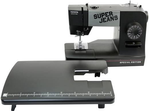 Jeans-Freiarmnähmaschine Toyota Nähmaschinen SUPERJ15PE mit Anschiebetisch, Lederfunktion Schwarz