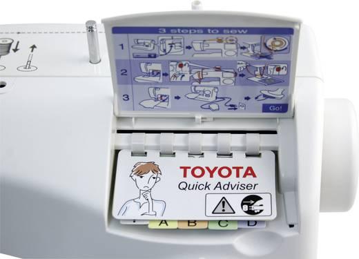 Toyota Nähmaschinen Freiarmnähmaschine SPB15 Weiß, Blau