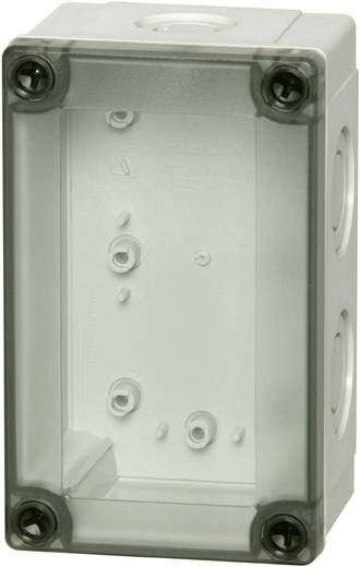 Wand-Gehäuse, Installations-Gehäuse 130 x 80 x 75 Polycarbonat Licht-Grau (RAL 7035) Fibox MNX PCM 100/75 T 1 St.
