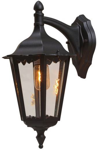 Außenwandleuchte Energiesparlampe, LED E27 100 W Konstsmide Firenze 7212-750 Schwarz