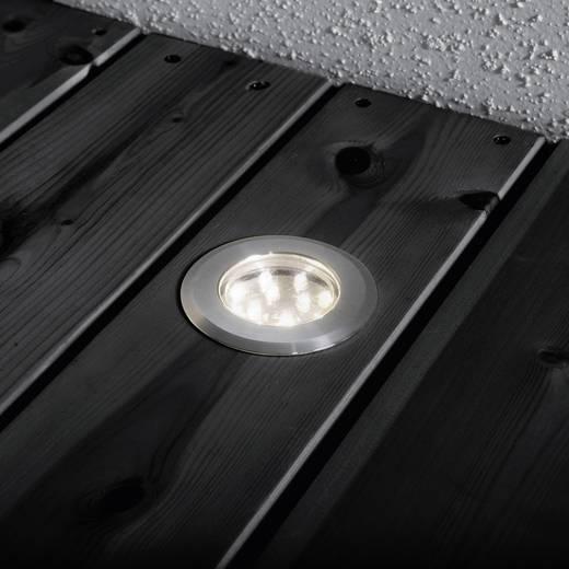 Konstsmide 7654-000 LED-Einbauleuchte 3er Set 3.6 W Warm-Weiß Edelstahl