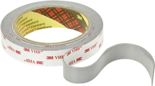 Doppelseitiges Klebeband 3M VHB™ 4941P Grau (L x B) 3 m x 19 mm Acryl Inhalt: 1 Rolle(n)