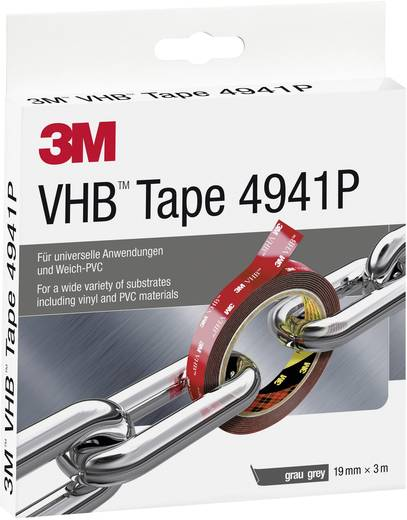 Doppelseitiges Klebeband VHB™ 4941P Grau (L x B) 3 m x 19 mm 3M 7000072418 1 Rolle(n)