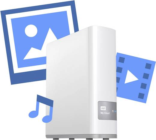 NAS-Server 3 TB Western Digital My Cloud™ WDBCTL0030HWT-EESN