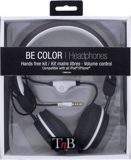 TNB Be Color Stereo Headset + Mikrofon Schwarz/Weiß